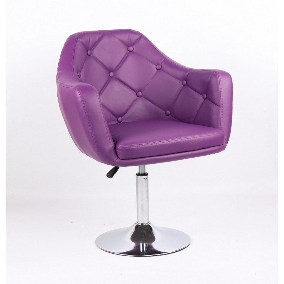 Парикмахерское кресло Votana HC831 фиолетовый