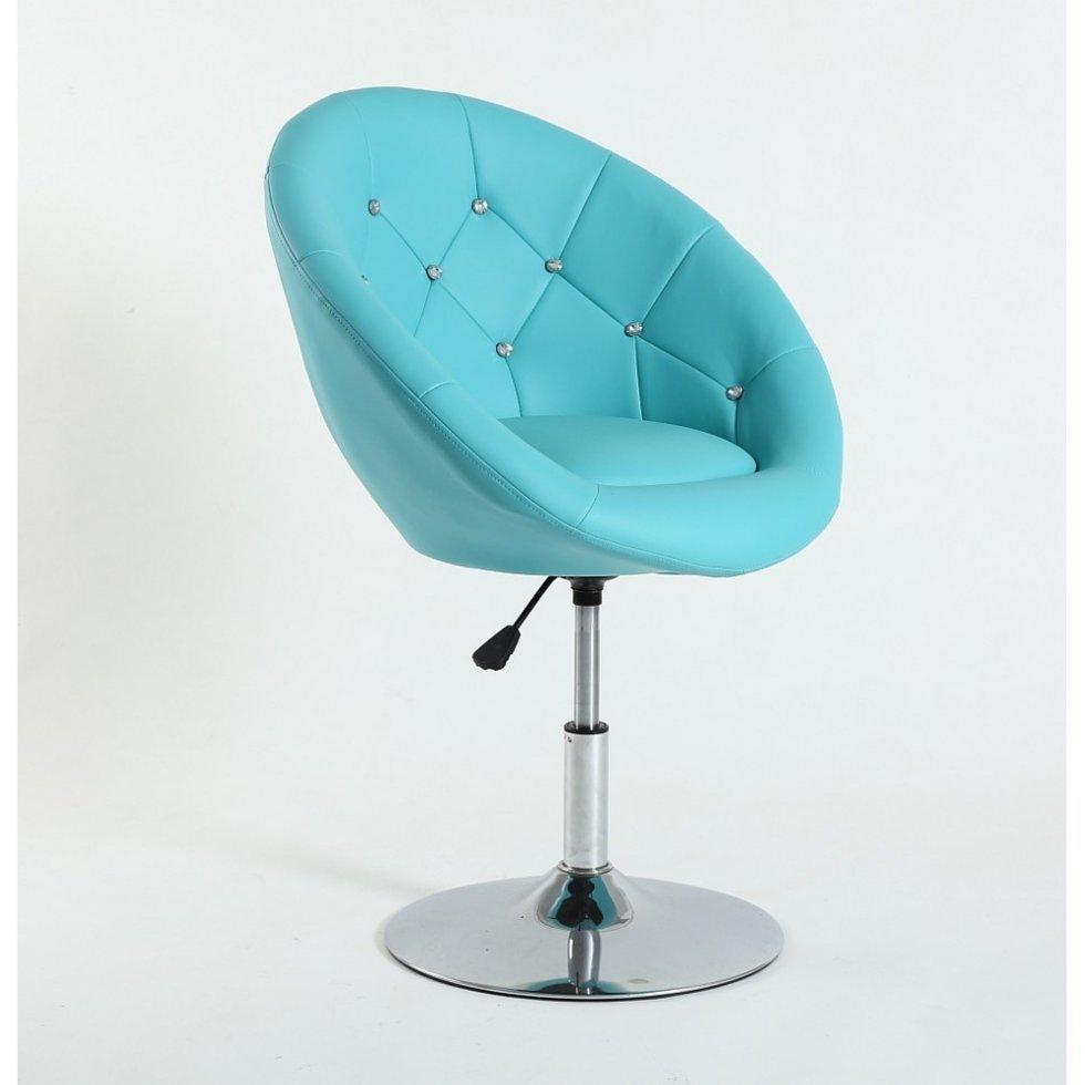 Парикмахерское кресло Votana HC8516 стразы, бирюзовый