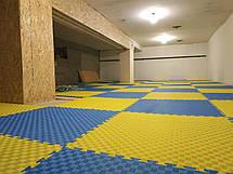 "Мат-татами Ланор ""ласточкин хвост"" 120кг м3 30мм желто-синий Т2, фото 3"