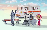 Игровой набор Simba фигурка Маши и машина скорой помощи с фигурками волков из м/ф Маша и Медведь (109309863), фото 4