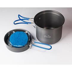 Кастрюля-кружка 0,9 л. анодированная с крышкой-сковородкой Tramp. Набор туристической посуды