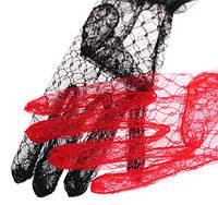 Женские фатиновные перчатки. Размер универсальный. Черные.