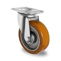 Поворотное колесо диаметр 100 мм алюминий/полиуретан шариковый подшипник нагрузка 250 кг
