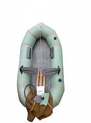 """Надувная резиновая лодка """"Стриж"""" Лисичанка, одноместная с уключинами"""
