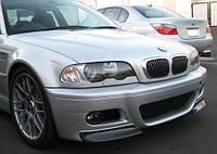 Клыки накладки переднего бампера сплиттер BMW E46 М3 в стиле CSL