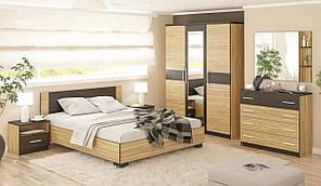 """Модульна Спальня """"Вероніка"""" Мебель Сервіс (зебрано)"""