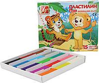 """Пластилін """"Луч"""" 15 кольор.""""Зоо"""" міні  202,5 г. 20С1357-08"""