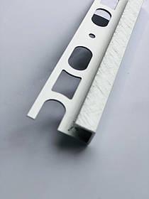 Декоративный профиль из алюминия Profilpas Cerfix Proangle Q X Design для наружных углов керамической плитки Н-10мм, Платина