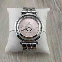 Женские наручные часы Pandora 6861 Cristal серебристый корпус с розовым циферблатом реплика