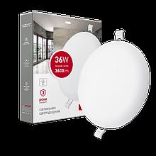 Світильник 36W світлодіодний врізний LED MAXUS SP edge, 4100К (коло)