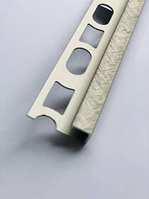Декоративный профиль из алюминия Profilpas Cerfix Proangle Q X Design для наружных углов керамической плитки Н-8мм, Титан