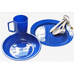 Набір посуду пластикового Tramp. Набор посуды на природу