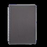 Блокнот А5 80л RAIN пружина сбоку, пластик. обложка, фото 3