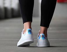 Женские кроссовки Adidas Stan Smith White Metallic Silver-Sld AQ6272, Адидас Стен Смит, фото 2
