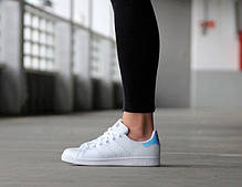 Женские кроссовки Adidas Stan Smith White Metallic Silver-Sld AQ6272, Адидас Стен Смит, фото 2