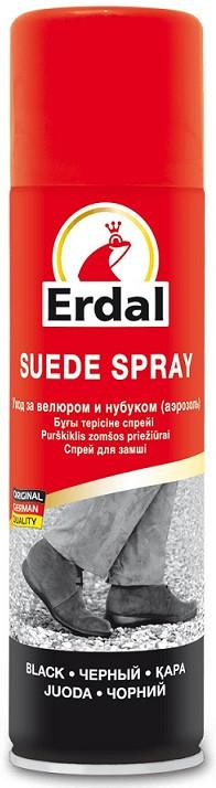 Спрей для взуття Erdal для догляду за замшею чорний