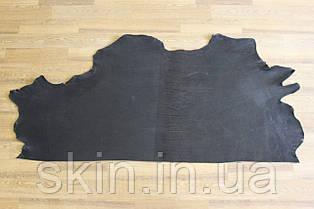 Шкіра натуральна ремінна чорного кольору, товщина: 3.0 мм, артикул СК 1609 вороток