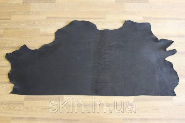 Кожа натуральная ременная черная, толщина 3.0 мм, арт. СК 1609 ворот, фото 2