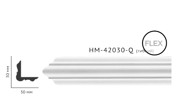 Молдинг для стен, гладкий, Classic Home HM-42030Q , лепной декор из полиуретана