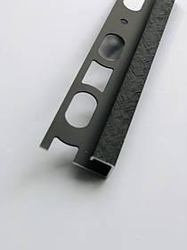 Декоративный профиль из алюминия Profilpas Cerfix Proangle Q X Design для наружных углов керамической плитки Н-8мм, Карбон
