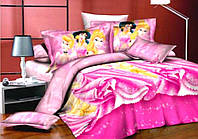 Полуторный постельный комплект Принцессы Дисней, хлопок