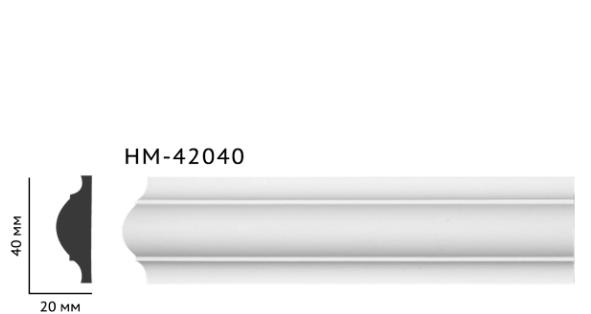 Молдинг для стен, гладкий, Classic Home HM-42040 , лепной декор из полиуретана