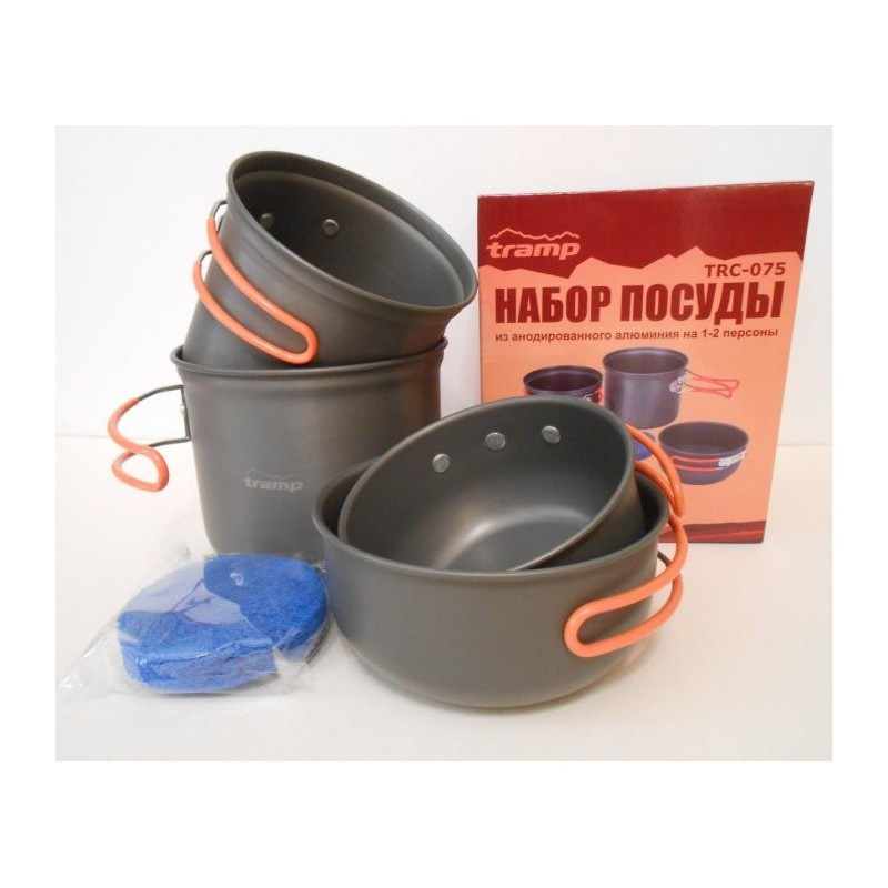 Набір посуди анодованої на 1-2 персони Tramp. Набор туристической посуды
