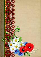 Папка картонная для документов с символикой и орнаментом