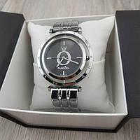 Женские наручные часы Pandora 6861 Cristal серебристый корпус с черным циферблатом реплика