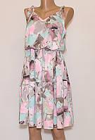Молодіжне літнє плаття з відкритими плечима 40-42