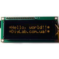 LCD 1602 HD44780 помаранчеві символи, чорний фон