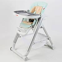 Стульчик для кормления Carrello Concord мятный колеса наклон спинки для малышей от рождения и до 3-х лет