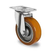 Поворотное колесо диаметр 125 мм алюминий/полиуретан шариковый подшипник нагрузка 300 кг