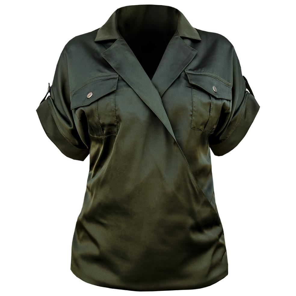 "Блуза шёлк ""ARMORY"" Olive"