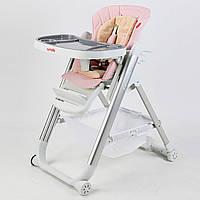 Стульчик для кормления Carrello Concord розовый колеса наклон спинки для малышей от рождения и до 3-х лет