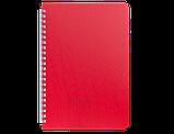 Блокнот А6 60л BARK клетка, пружина сбоку, пластик. обложка, фото 3