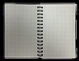 Блокнот А6 60л BARK клетка, пружина сбоку, пластик. обложка, фото 4