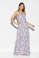 Женское летнее платье макси с открытой спиной, фото 1