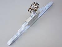 Плечики металлические в силиконовом покрытии белого цвета, 40,5 см, 5 штук в упаковке