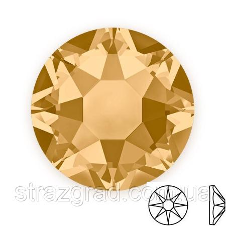 Стразы клеевые копия SWAROVSKI XIRIUS 16 граней (8+8) Golden Shadow SS16 Non-Hot Fix 100 шт.