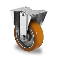Колесо неповоротне діаметр 125 мм алюміній/поліуретан кульковий підшипник навантаження 300 кг