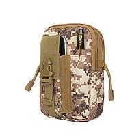 Тактический чехол Military сумка для телефона подсумок на пояс Пустыня цифровой