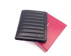 Мужское портмоне в стиле Salvatore Ferragamo (F-7113) black leather
