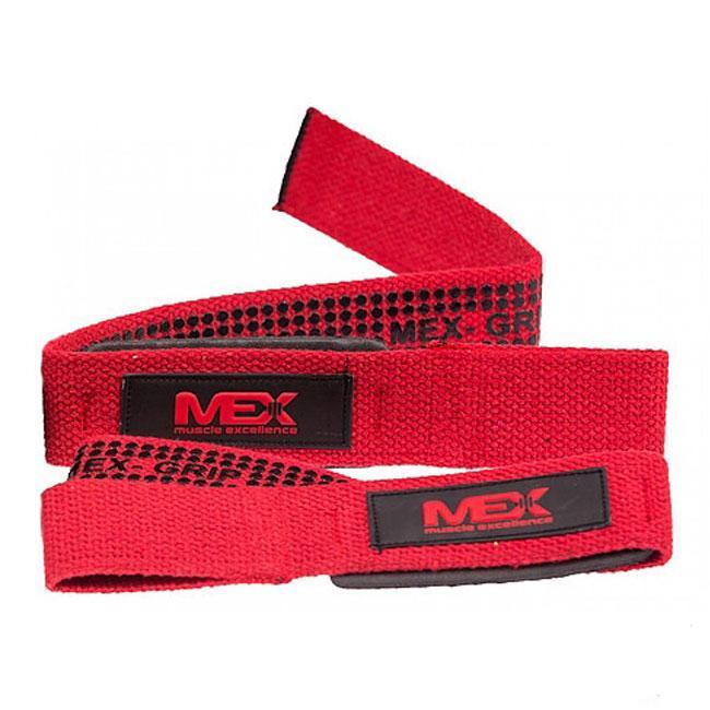 Лямки тренировочные MEX Pro Lift Lifting Straps Red