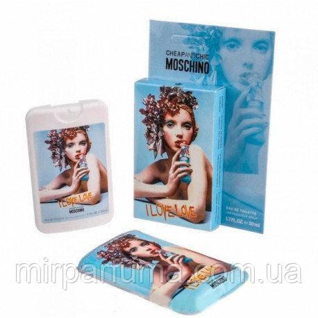 Женский парфюм в чехле Moschino I love love 50ml, фото 2