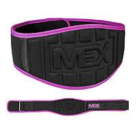 Неопреновый пояс для фитнеса MEX Fit Brace черный-розовый
