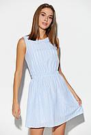 Женское летнее хлопковое мини платье без рукавов, фото 1