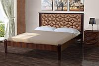 Кровать Рубин 160-200 см (Орех темный/Канзас Бронза)