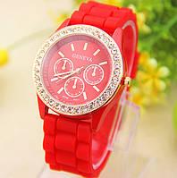 Женские часы(женева) Geneva Fashion красные, фото 1