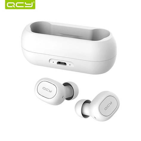 Бездротові навушники (гарнітура) QCY QS1 White, фото 2